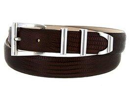 S5998 - Men's Italian Calfskin Designer Dress Belt with Silver Plated Buckle ... - $29.20