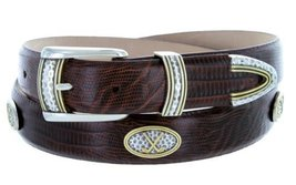 Golf Classic - Men's Italian Calfskin Designer Dress Belt with Golf Conchos (... - $39.55