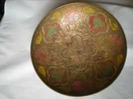 1930's Old Brass Unique Shape Floral Engraved H... - $55.75