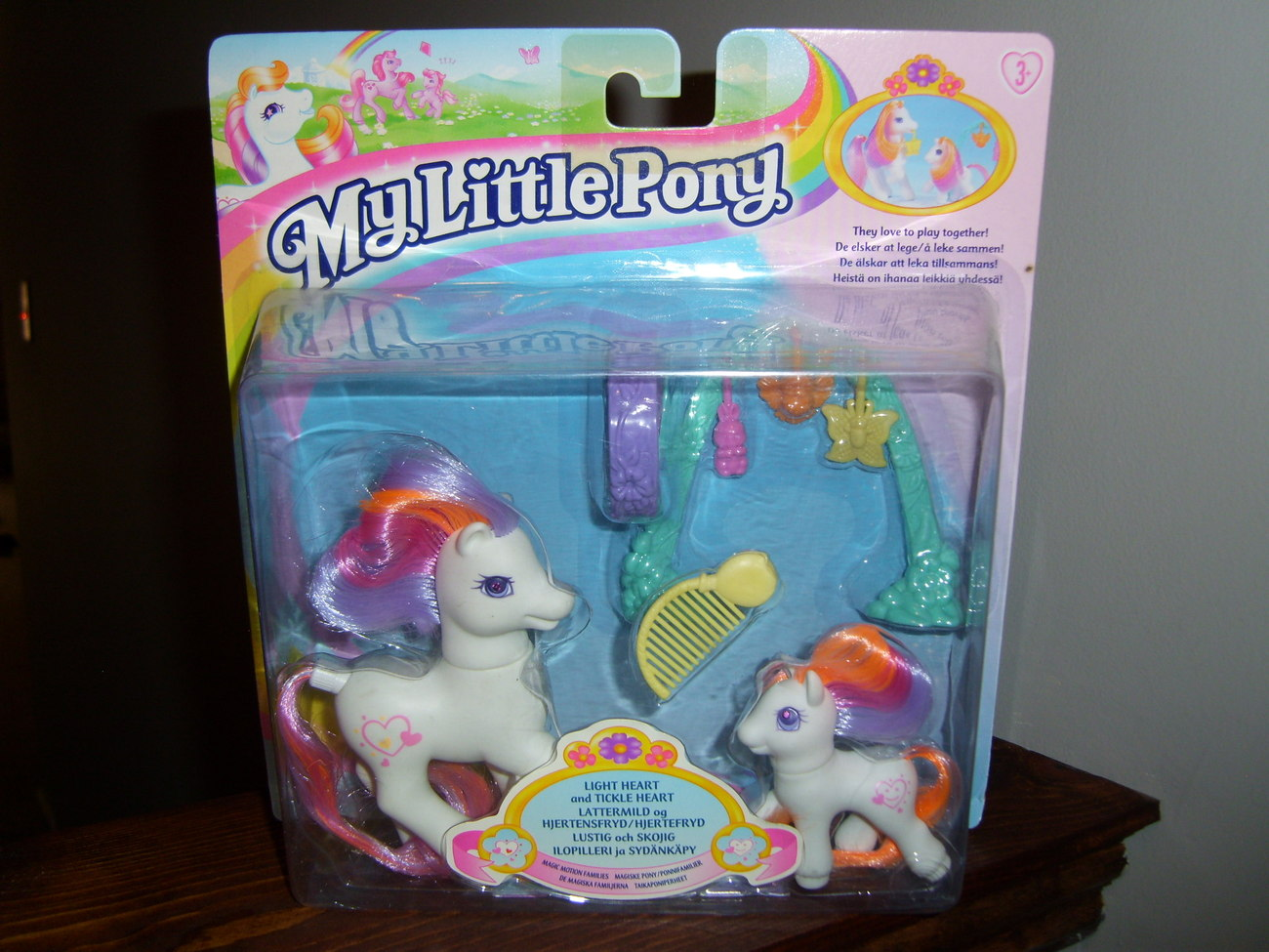 My Little Pony G2 MOC Lightheart and Baby Tickleheart