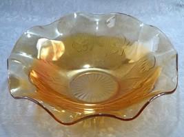 Jeannette Glass Iris & Herringbone Iridescent M... - $22.49