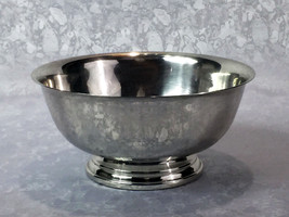 "Gorham Silverplate Footed Bowl #YC780 Vintage 8""in Diameter Revere Style - $22.49"