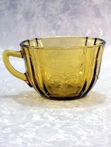 Vintage Indiana/Federal Depression Glass Yellow-Amber Madrid Pattern Tea... - $6.75