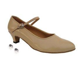 "Very Fine Ladies Women Ballroom Dance Shoes EK1682 Tan Leather 1.3"" Heel (5M) - $64.95"