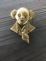 Fashion Jewelry Clown Brooch Pin satin glossy Clown Face - $15.42