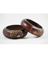 Hand-Painted Wooden Bangle - $10.50