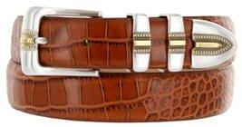 Carmelo Italian Calfskin Leather Designer Dress Golf Belt for Men (36, Alliga... - $29.20