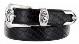 Monterey Italian Calfskin Leather Designer Dress Belts for Men(46, Allig... - $29.20