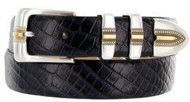 Carmelo Italian Calfskin Leather Designer Dress Golf Belt for Men (48, Alliga... - $29.20