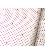 "Daisy kingdom Lilian Crown Pink Dots 53"" wide 100% cotton fabric by the yard - $6.37"