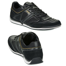 Hugo Boss Men's Premium Sport Leather Sneakers Shoes Saturn Lowp Strf