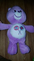 "Care Bears 2002 plush 10"" T Share Bear lilac purple with lollipops - $8.60"