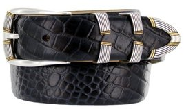 "Menlo Men's Designer Genuine Italian Calfskin Leather Dress Belt 1-1/8"" Wide ... - $29.20"
