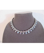 Absolute Stunning Vintage Austrian Crystal and Silver Adjustable Necklace - $27.99