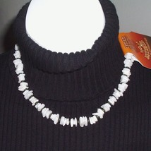 Hawaiian Tropic Faux Puka Shell Necklace White Black - $4.99