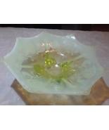 Carnival glass vaseline - $40.00