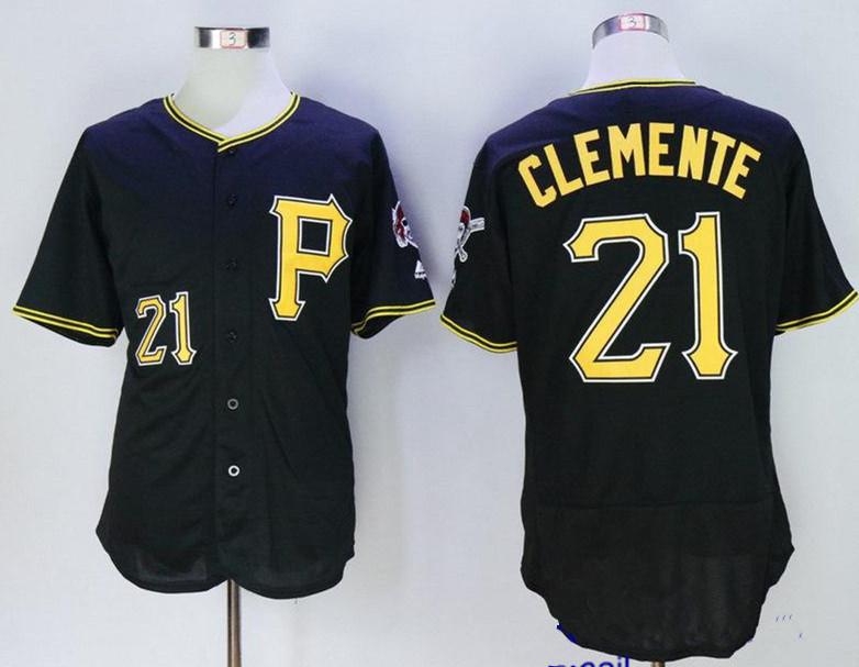 Pittsburgh Pirates 21 Roberto Clemente Black Flexbase Baseball Jersey for sale  USA