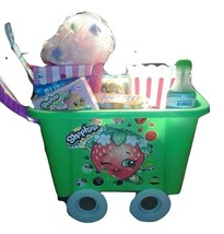 Childrens Shopkins Characters Shopping Cart Gift Basket for girl's birthday - $79.99