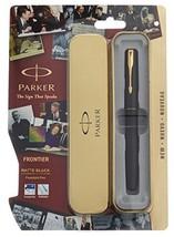 Parker Frontier Matte Black GT Fountain Pen - Fine Nib - $17.81