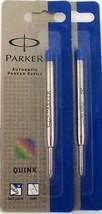 Parker Quinkflow Medium Blue Ball Pen Refill - Pack of 2 - $6.70