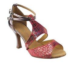 "Very Fine Ladies Women Ballroom Dance Shoes EKSA7004 Red 2.5"" Heel (9.5M) - $65.95"
