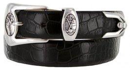 Monterey Italian Calfskin Leather Designer Dress Belts for Men(42, Alligator ... - $29.20