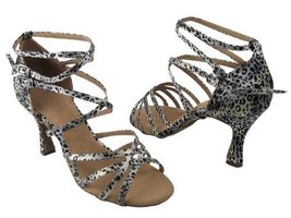 Ladies' Latin Rhythm Salsa SERA5008 Snow Leopard (8.5M) - $65.95