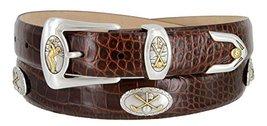 Bayside- Italian Calfskin Leather Designer Dress and Golf Belt For Men (ABRN,34) - $39.59
