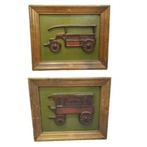 Vintage Set of 2 Ideal Southern California Wall Decor Ajax Delivery Truc... - $37.39