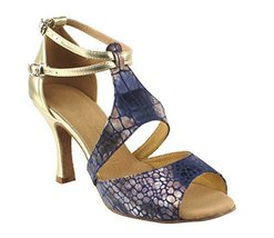 "Very Fine Ladies Women Ballroom Dance Shoes EKSA7004 Gold 3"" Heel (5.5M) - $65.95"