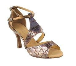 "Very Fine Ladies Women Ballroom Dance Shoes EKSA7004 Gold 3"" Heel (5.5M) image 2"