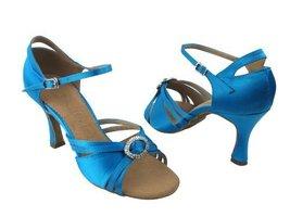 "Ladies' Latin Rhythm Salsa SERA1154 Blue Satin 3"" Heel (7.5) - $65.95"