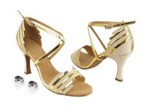 "Ladies Women Ballroom Dance Shoes Very Fine EKSA1700 SERA 2.5"" Heel with Heel... image 2"