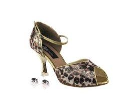 "Very Fine Ladies Women Ballroom Dance Shoes EKCD3009 Brown Leopard 2.5"" ... - $79.95"