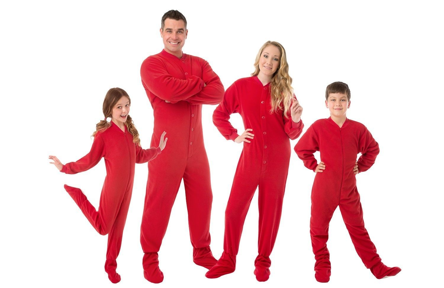 32ae618338 Big Feet Pjs - Red Fleece Footed Pajamas - and 44 similar items. S l1600