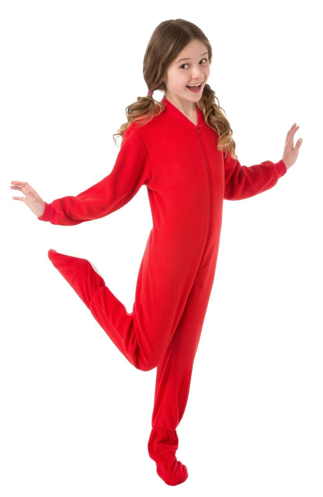 1d404a42a Big Feet Pjs - Red Fleece Footed Pajamas - Adult, Kids & Infant Onesie
