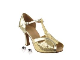 Very Fine Ladies Women Ballroom Dance Shoes EKSERA2800 Gold Scale & Ligh... - $65.95