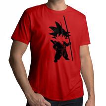 *NEW* Dragon Ball Young Kid Teenage Goku with Tail Silhouette T-Shirt Tee LARGE - $18.00
