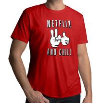 *NEW* Netflix & Chill Booty Call Funny Naughty Humorous Cool T-Shirt Tee MEDIUM - $18.00