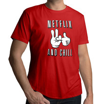 *NEW* Netflix & Chill Booty Call Funny Naughty Humorous Cool T-Shirt Tee Size XL - $18.00