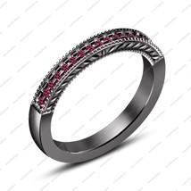 Ladies Special Lovely Impressive 925 Silver 14k Black GP Pink Sapphire B... - $76.50
