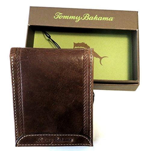 Tommy Bahama Men's Billfold Wallet BERMUDA Rustic Tan