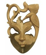 Exotic Mask Wooden Hand Carved Abstract Wall Plaque Hanging Unique Sculpture Art - £51.61 GBP