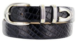 Coronado Italian Calfskin Leather Designer Dress Belts for Men (36, Alligator... - $29.20