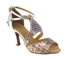 "Very Fine Ladies Women Ballroom Dance Shoes EKSA7004 SILVER 3"" Heel (6M) - $65.95"