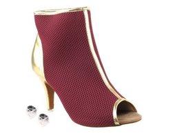 "Very Fine Ladies Women Ballroom Dance Shoes EKCD3028 Purple & Gold 3"" Stilett... - $82.95"