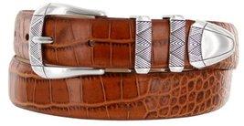 Martin Italian Calfskin Leather Designer Dress Belts for Men (54, Alligator Tan) - $29.20