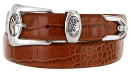 Monterey Italian Calfskin Leather Designer Dress Belts for Men(54, Alligator ... - $29.20