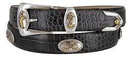 Bayside- Italian Calfskin Leather Designer Dress and Golf Belt For Men (ACHA,34) - $39.59
