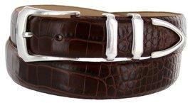 Vins Italian Calfskin Leather Designer Dress Belts for Men (42, Alligator Brown) - $29.20